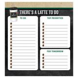 """Industrial Cafe There's a Latte to Do Notepad, 5.75"""" x 6.25"""", 50 Sheets"""