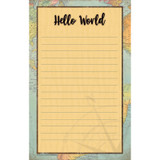 """Travel the Map Notepad, 5.25"""" x 8.5"""", 50 Sheets"""
