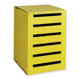 """Classroom Keepers¨ Homework Collector, Yellow, 17.9375""""H x 12.1875""""W x 13.6875""""D"""