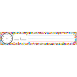 """Pocket Chart Inserts, Scheduling/Sentence Strip Cards, 2"""" x 12"""", Confetti, Pack of 12"""