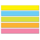 """Lined Multicolored Sentence Strips, 3"""" x 24"""", Pack of 75"""