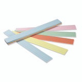 """Sentence Strips, 5 Assorted Colors, 1-1/2"""" Ruled, 3"""" x 24"""", 100 Strips"""