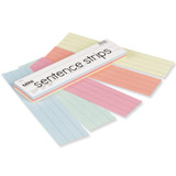 """Mini Sentence Strips, 5 Assorted Colors, 1-1/2"""" x 3/4"""" Ruled, 3"""" x 12"""", 100 Strips"""