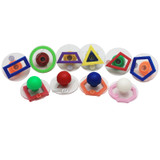 Giant Stampers, Geometric Shapes, Outlines, Set of 10