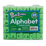 Alphabet Stamps, Lowercase, Small, Set of 34