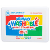 Readly 2 Learn Jumbo 4-in-1 Washable Stamp Pad, Primary