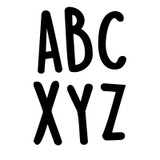 """Casual Black 2"""" Uppercase Letter Stickers, Pack of 109"""