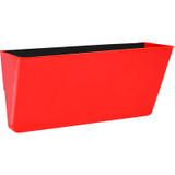 Storex Letter-size Magnetic Wall Pocket, Red