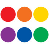 """Spot On¨ Colorful Circles Carpet Markers, 7"""""""