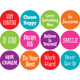 """Spot On¨ Positive Sayings Carpet Markers, 4"""""""