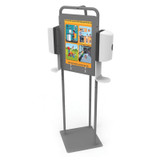 Double Hand Sanitizer Station without Dispenser