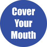 """Cover Your Mouth Anti-Slip Floor Sticker, Blue, 11"""", Pack of 5"""