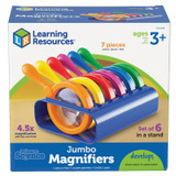 Primary Science Jumbo Magnifiers, Set of 6 with Stand