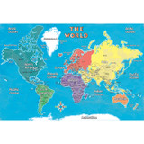 """Young Explorer World Map 42"""" x 30"""""""