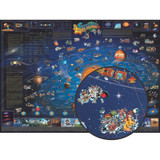 """Children's Map of The Solar System, 54"""" x 38"""""""
