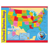 """United States Map Learning Chart, 17"""" x 22"""""""