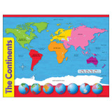 """The Continents Learning Chart, 17"""" x 22"""""""