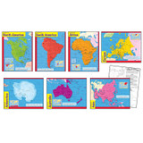 Continents Learning Charts Combo Pack, Set of 7