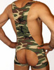 Camouflage Open Back Singlet