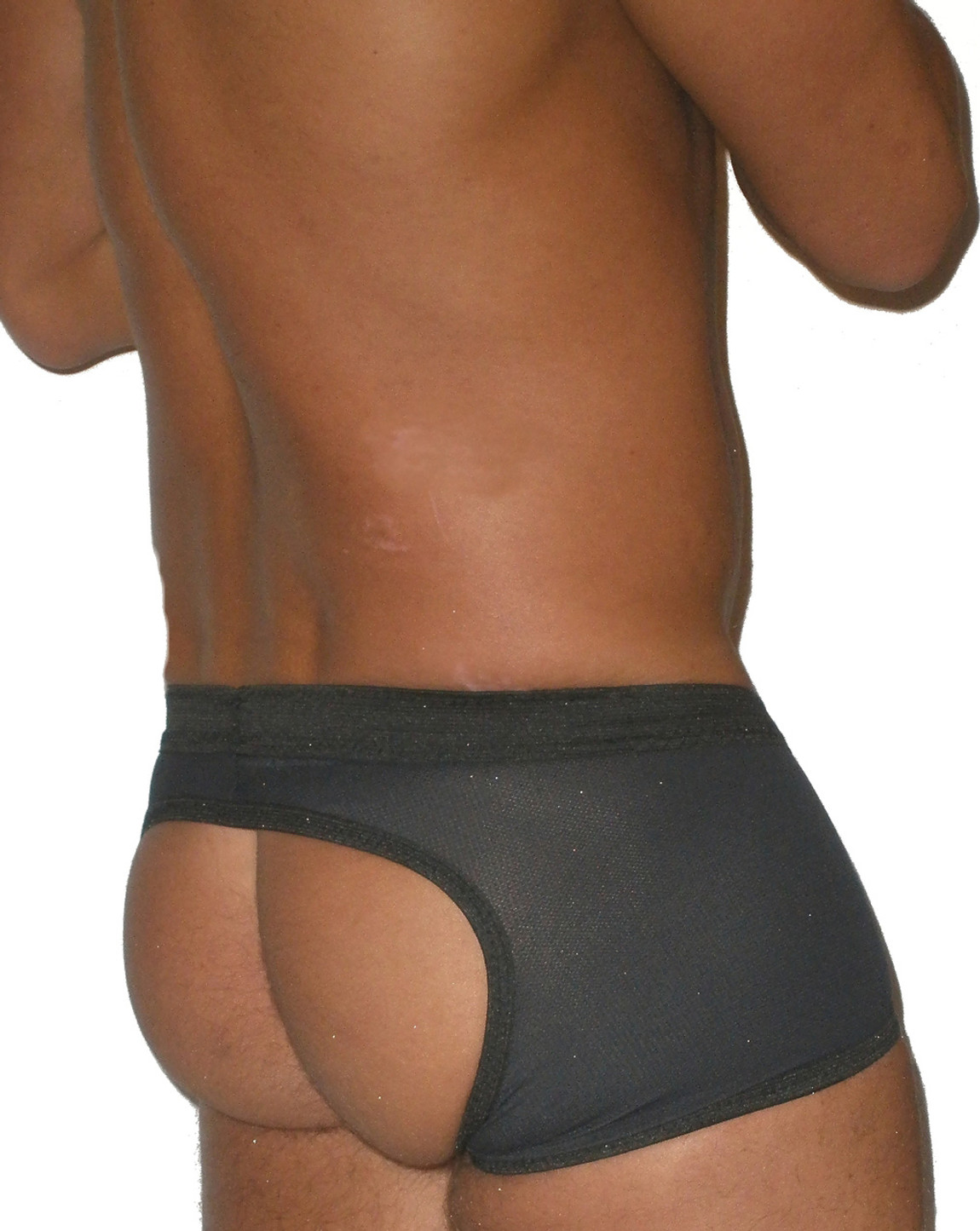 spandex open back shorts