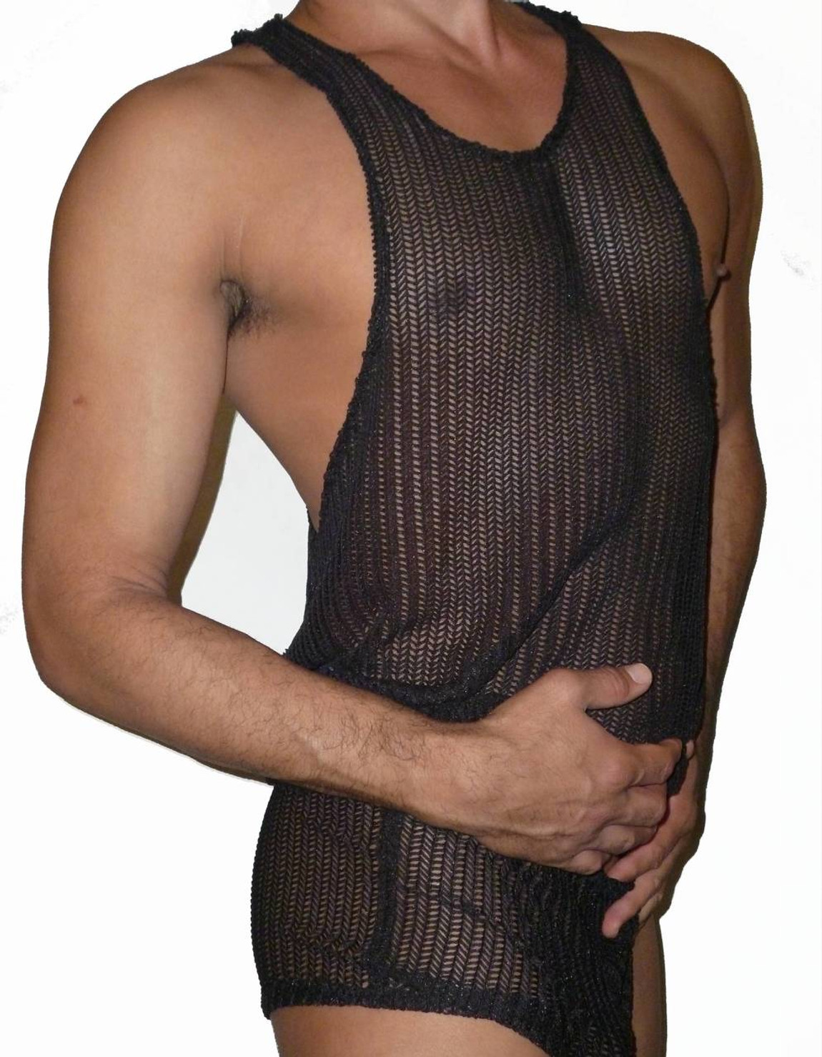 black knit net