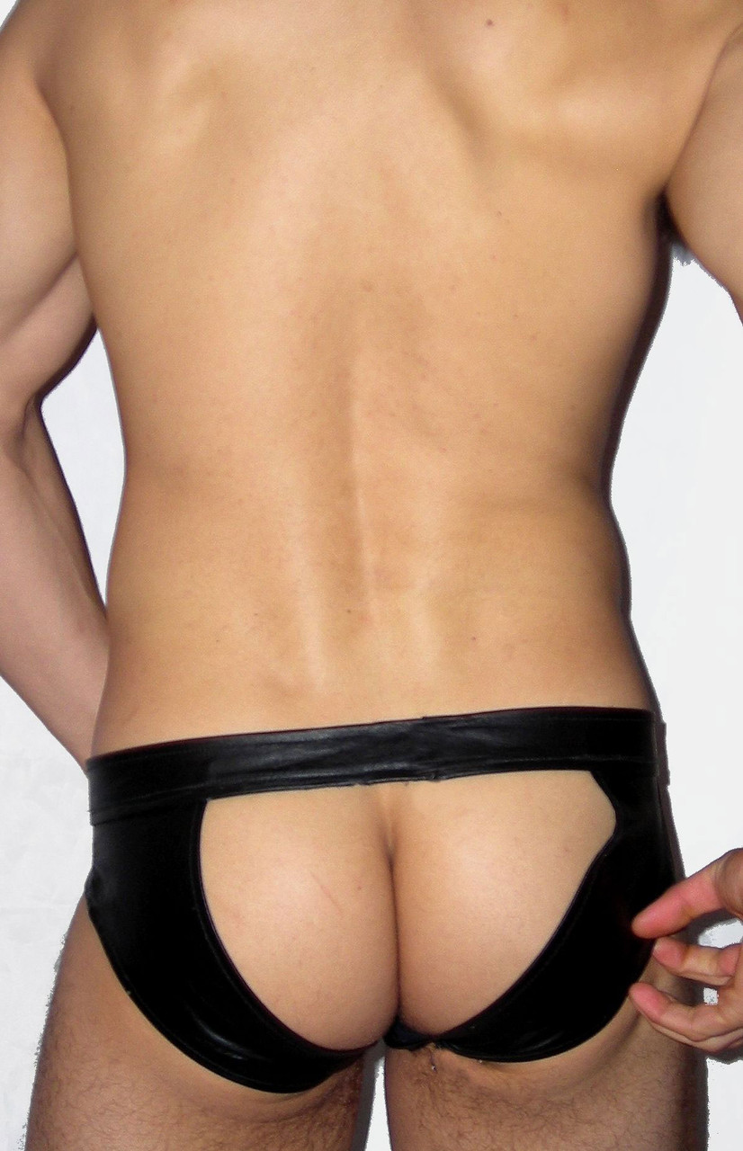 open leather brief