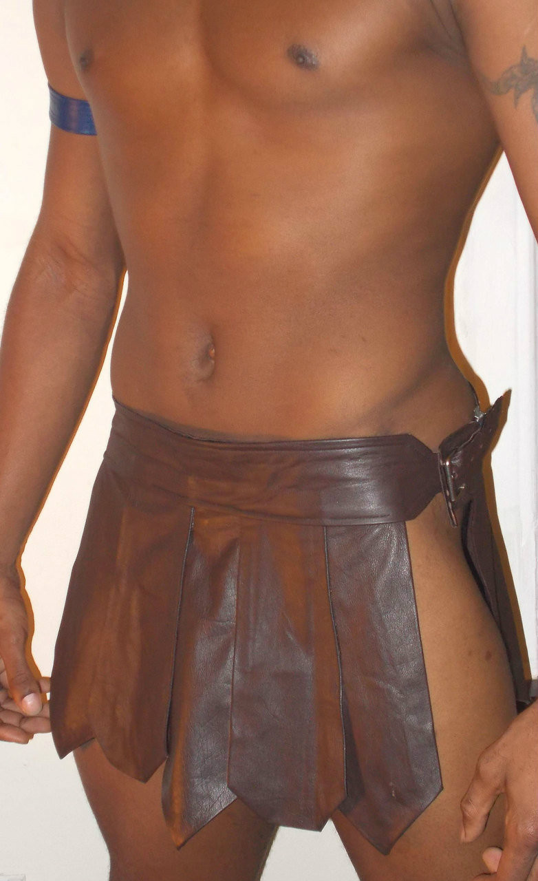 Brown leather kilt