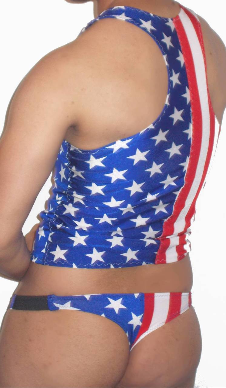 stars and stripes thong