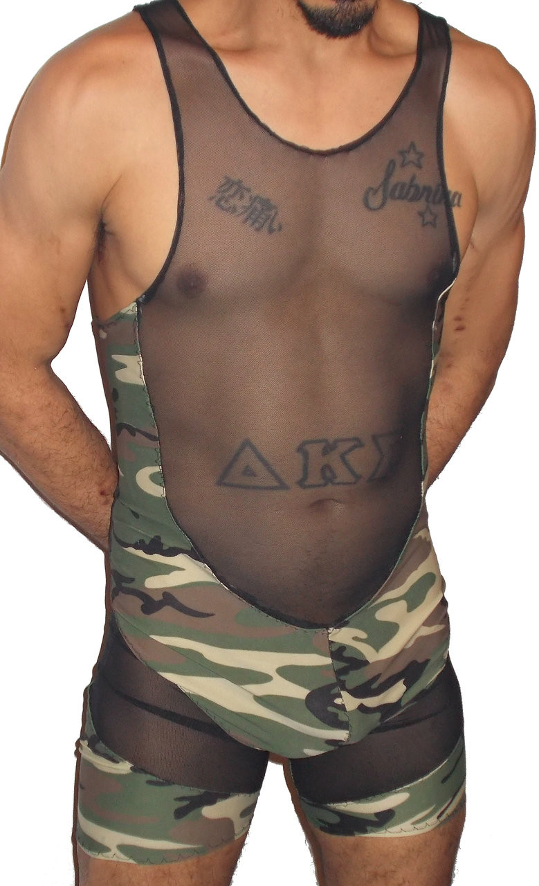 Mesh Camouflage Singlet