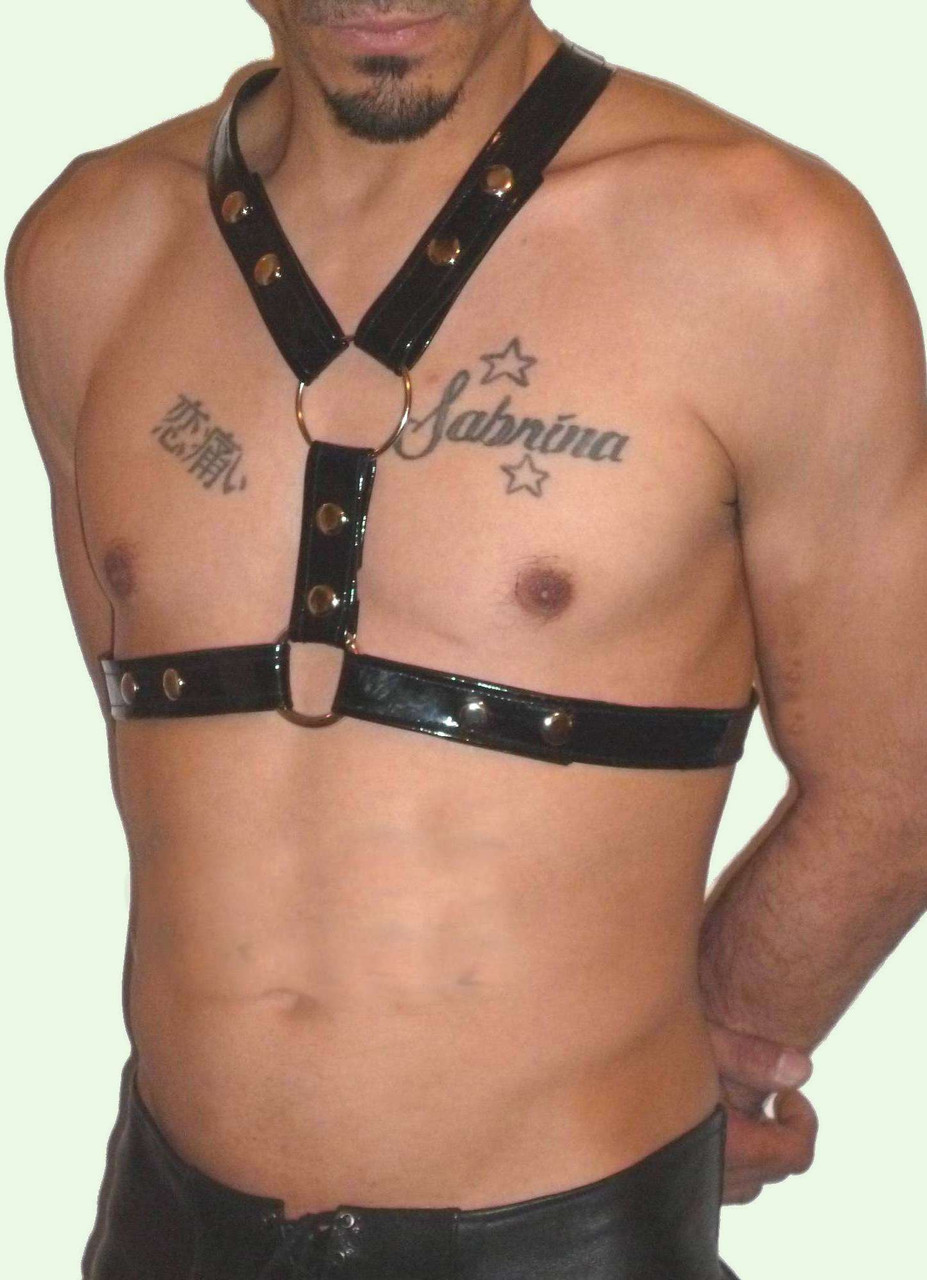 patent leather harness
