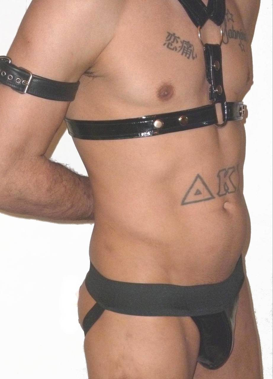 patent leather pouch