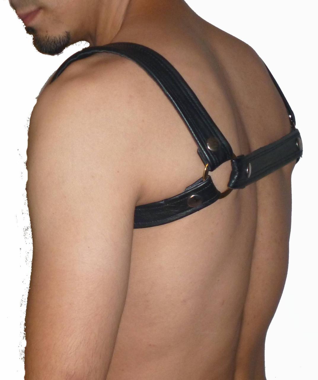 Four Color Pec Leather Harness