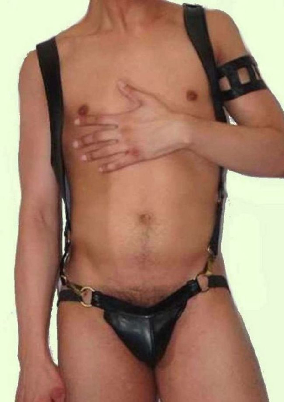 Leather Body Harness and Jockstrap