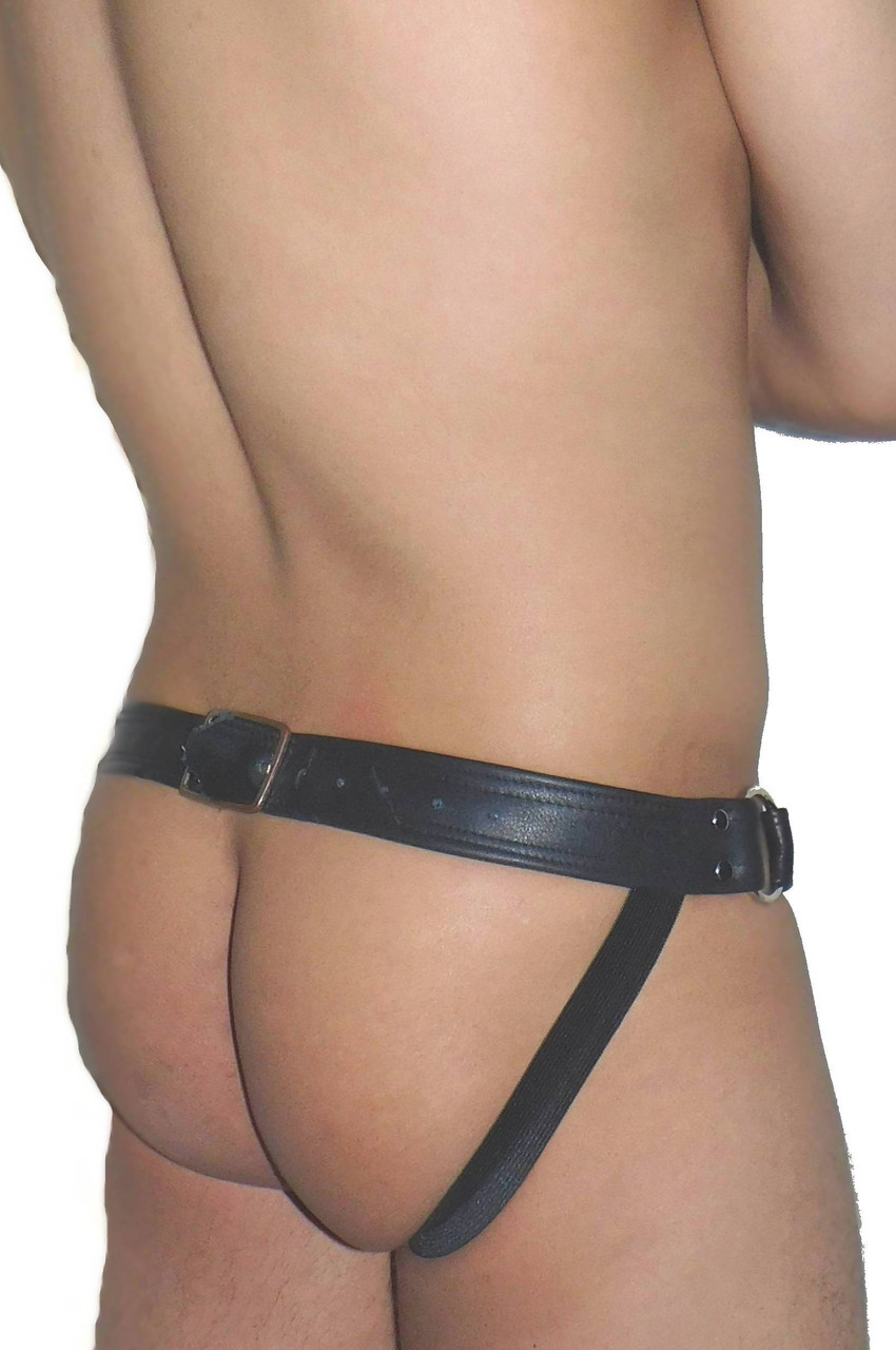 Riveted Pouch Leather Jockstrap