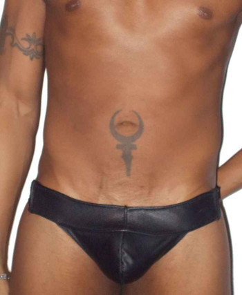 Jocks By RJ Scoop Front Leather and Neoprene Jockstrap