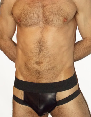 Front Strap Pouch Leather Jockstrap