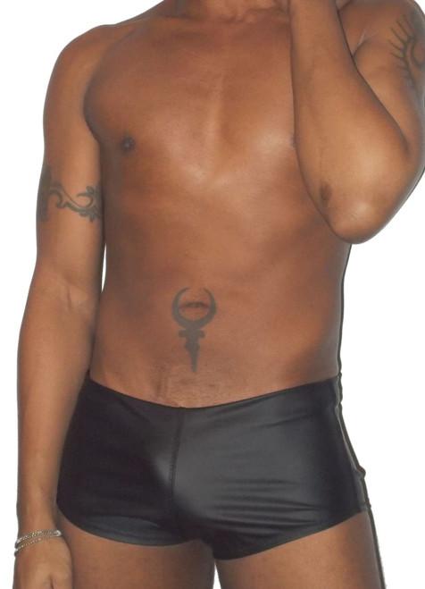 neoprene open back brief shorts