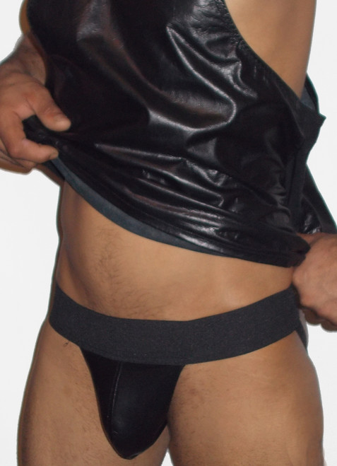 stretch leather pouch