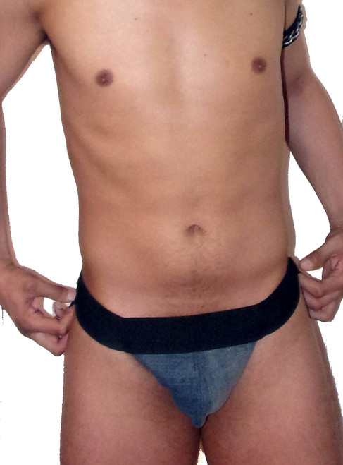 Blue Denim Pouch Jockstrap