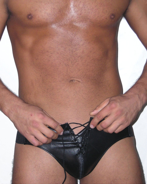 Jocks By RJ Lace Up Leather Jockstrap