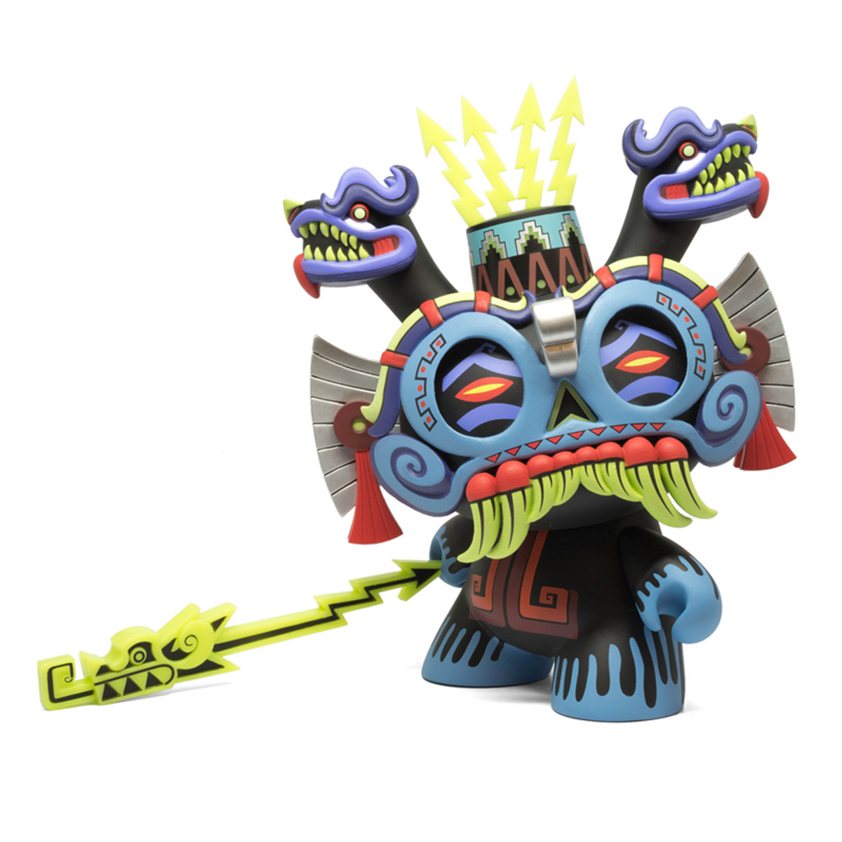 "Blue Tlaloc Rain of God Dunny 8/"" Medium Figure by Urban Aztec x Kidrobot"