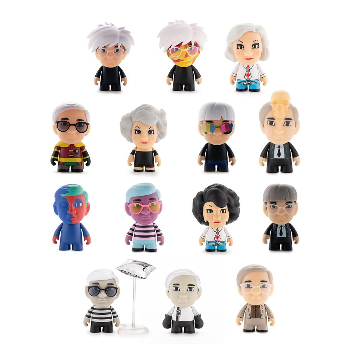 The Many Faces of Andy Warhol Vinyl Mini Kidrobot Silver Factory 60/'s 2//24