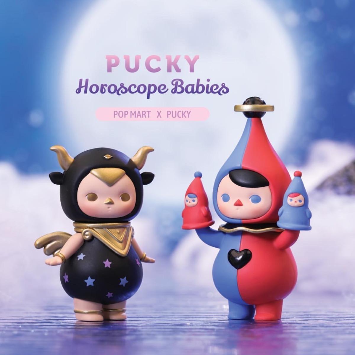 POP MART x PUCKY Horoscope Babies Gemini Baby Mini Figure Designer Art Toy New