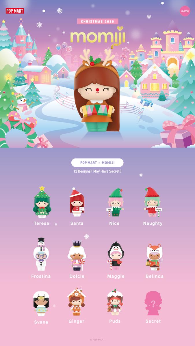 POP MART x MOMIJI Christmas 2020 Frostina Mini Figure Designer Art Toy Figurine