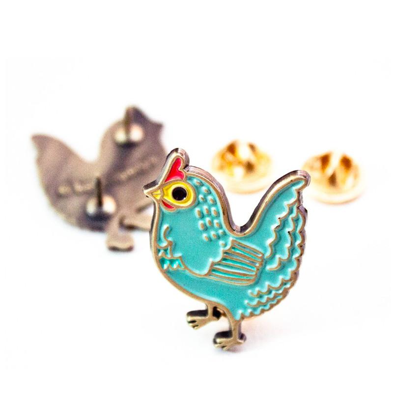 Chicken Enamel Pin