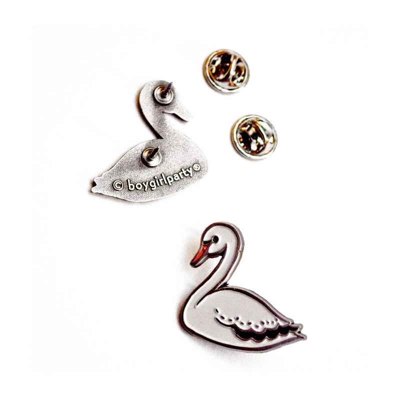 White Swan Enamel Pin