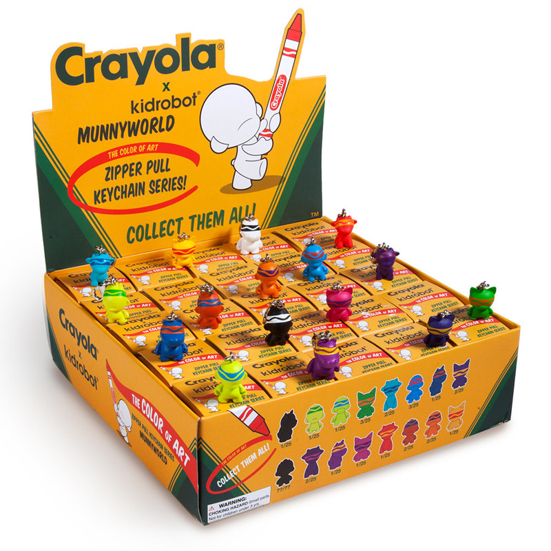 Crayola Munny Zipperpulls : Case of 25