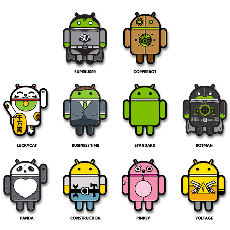 Android Enamel Pins