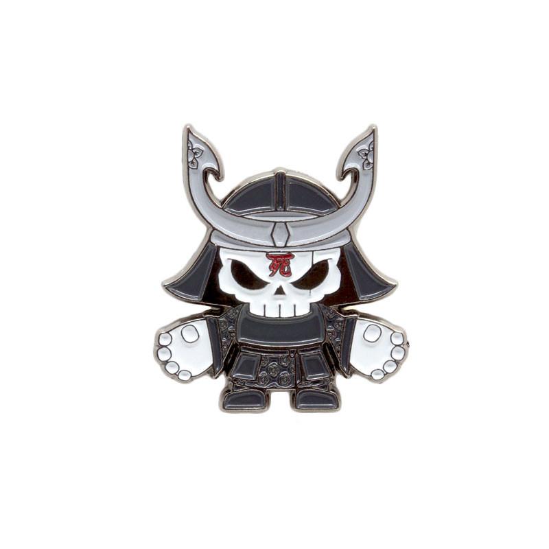 Skullhead Samurai Enamel Pin