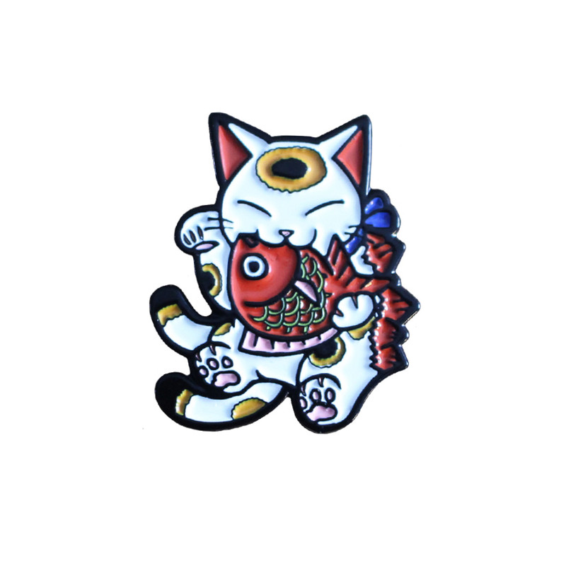 Negora and Koi Pin : White and Red